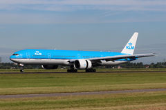 KLM Royal Dutch Airlines Boeing B777-300 Stock Photography