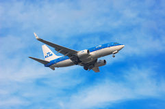 KLM Royal Dutch Airlines Boeing 737 Royalty Free Stock Image