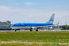 KLM Royal Dutch Airlines Boeing 737 Stock Photography
