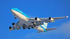 KLM Royal Dutch flygbolag Boeing 747-400 PH-BFL Arkivbild