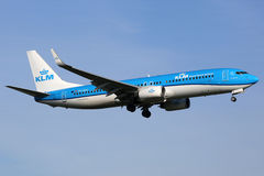 KLM Royal Dutch flygbolagBoeing 737-800 flygplan Royaltyfri Bild