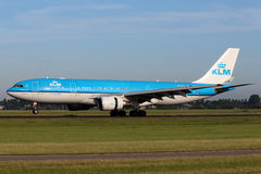 KLM Royal Dutch linie lotnicze Aerobus A330-203 Zdjęcia Royalty Free