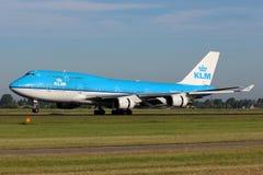 KLM Royal Dutch linie lotnicze Boeing B747 Obraz Stock