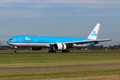 KLM Royal Dutch linie lotnicze Boeing B777-300 Fotografia Stock