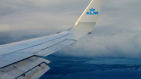KLMs aircraft wing Royalty Free Stock Images