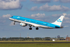 KLM Schiphol Royalty Free Stock Photo