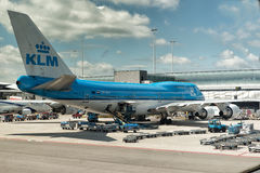 KLM at Schiphol Airport Amsterdam Stock Image