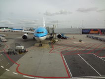 KLM A330 at Schiphol Royalty Free Stock Photo