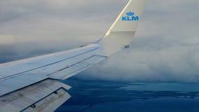 KLMs Flugzeugflügel Lizenzfreie Stockbilder