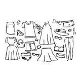 Klänningar vektorillustration Royaltyfria Foton
