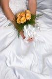 klänningen blommar bröllop Fotografering för Bildbyråer