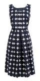 Klänningen med polka pricker Arkivbild