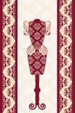 Klänningen med snör åt prydnadar. Fotografering för Bildbyråer