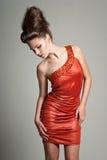 klänningorange Arkivfoto