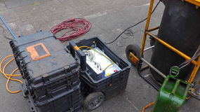 Kloakbehandling, kloaksystemlokalvård Royaltyfri Bild
