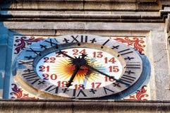 Klocka av det Varese klockatornet Royaltyfri Foto