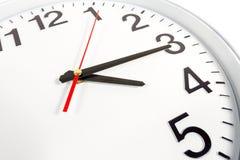 Klocka eller abstrakt bakgrund för tid vit klocka med rött och blac Fotografering för Bildbyråer
