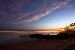 Klocka för Ballito strandnatt Arkivbilder