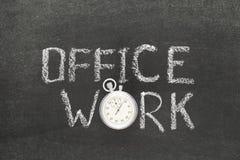 Klocka för kontorsarbete arkivfoton