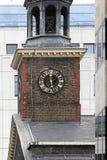 Klocka för kyrkligt torn Royaltyfria Foton