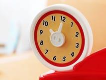 Klocka för leksak för runda för nolla-`-klocka Royaltyfri Foto