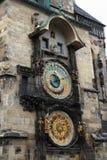 klocka för prague stadstorn Arkivbilder