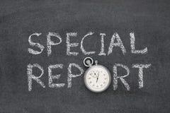 Klocka för special rapport Fotografering för Bildbyråer