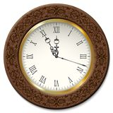 Klocka för vektortappningvägg Fotografering för Bildbyråer