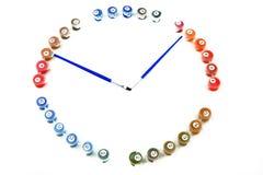 Klocka från numbercolors Royaltyfri Bild