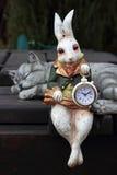 klocka Hare och katt Royaltyfria Foton