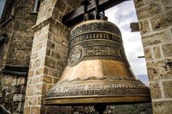 Klocka i den Bigorski kloster - St John föregångaren i Makedonien Arkivbilder