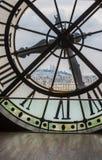 Klocka i det Orsay museet, Paris Arkivbilder