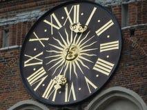 Klocka i Gdansk Royaltyfri Fotografi