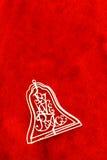 Klocka i rött Arkivbilder