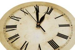 klocka isolerad gammal white Arkivbild