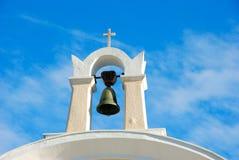 klocka kyrkliga greece Royaltyfria Bilder