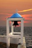 klocka kyrkliga greece s Royaltyfria Foton