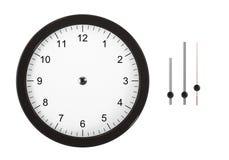 Klocka med avskilda händer Arkivbild