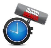 Klocka med den rekord- säkerhetsbrytaren för ord Fotografering för Bildbyråer