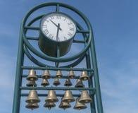 Klocka med klockor Arkivbild