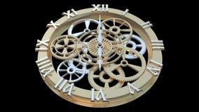 Klocka med roterande kugghjul och pilar royaltyfri illustrationer