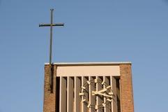 Klocka och kors Fotografering för Bildbyråer