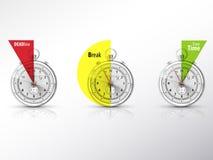 Klocka och tid vektor illustrationer