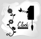 Klocka och tiddesign Arkivfoton