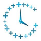 klocka plus symbol Fotografering för Bildbyråer