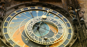 klocka prague Arkivbild