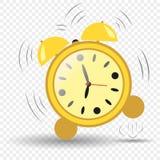 Klocka ringklocka sju timmar Ringklockabanhoppning Ringningringklocka Isolerad bakgrund för vektor beståndsdel stock illustrationer