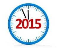 Klocka 2015 som är hel Arkivfoton