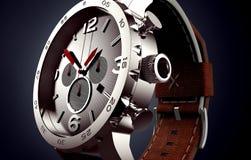 Klocka som isoleras på svart Arkivfoton