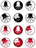 Klocka symbolsuppsättning Royaltyfria Bilder